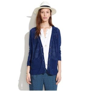 Madewell Sandstitch Navy Cardigan